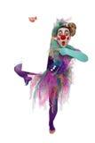 Clown mit Plakat stockbild