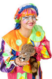 Clown mit Waschbären Lizenzfreie Stockbilder