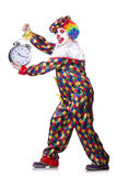 Clown mit Wecker Lizenzfreie Stockfotos
