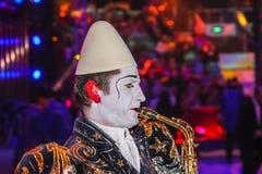 Clown, Monte Carlo Festivals stock foto