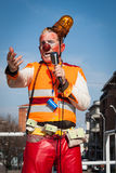 Clown Moriss taking part in Milan Clown Festival 2014 Royalty Free Stock Photography
