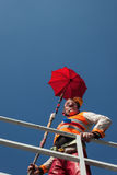 Clown Moriss taking part in Milan Clown Festival 2014 Royalty Free Stock Image