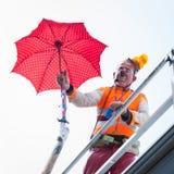 Clown Moriss taking part in Milan Clown Festival 2014 Royalty Free Stock Photos