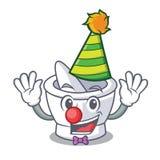 Clown mortar mascot cartoon style. Vector illustration vector illustration