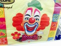 Clown napkins royalty free stock photo