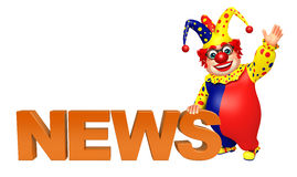 Clown with News sign Stock Images