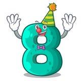 Clown number eight volume logo the mascot. Vector illustration vector illustration