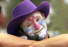 Clown-oben Abschluss stockfotos