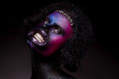 Clown- och allhelgonaaftontema Royaltyfri Foto