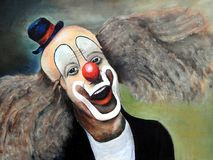Clown oil painting. An painting of a clown, oil on canvas by Belgian artist Andeyne Royalty Free Stock Images