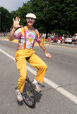 Clown On Unicycle In Parade Royalty Free Stock Photography