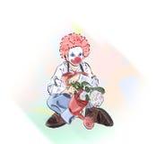 Clown op Carnaval vector illustratie