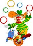 Clown op een fiets royalty-vrije illustratie