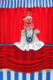 Clown op stadium Royalty-vrije Stock Afbeeldingen