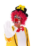 Clown order Stock Image