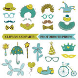 Clown and Party - Photobooth Set Royalty Free Stock Photos