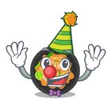 Clown pat thai on the mascot plate. Vector illustration royalty free illustration