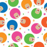 Clown pattern Stock Image