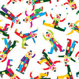 Clown pattern Royalty Free Stock Image