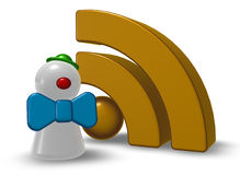 Clown pawn and rss symbol Stock Images