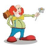 Clown peint avec la camomille Image libre de droits
