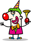 Clown performer cartoon illustration Royalty Free Stock Photo