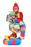 Clown With Pet Worm Royalty Free Stock Photos