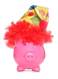 Clown piggy bank Stock Photos