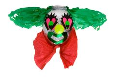 Clown pinata 2. Traditional mexican clown pinata isolated in white background Stock Image
