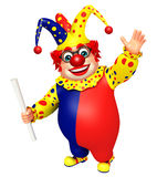 Clown with Pipe Stock Photo