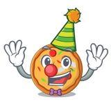 Clown pizza mascot cartoon style. Vector illustration stock illustration