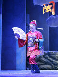 Clown playing the ancient chinese officer Royalty Free Stock Photos