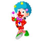 Clown playing balls. Illustration of clown playing balls Stock Photo