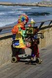 Clown playing in Tel-Aviv harbor Royalty Free Stock Image