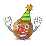Clown plenet Quecksilber lokalisiert in einem Maskottchen lizenzfreie abbildung