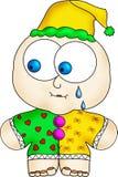 Clown pleurant Images stock