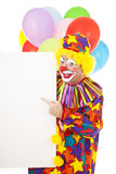 Clown Points to Message Stock Photography
