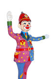 Clown Police. Colorful Clown Police handle the traffic, with white Background Stock Photography