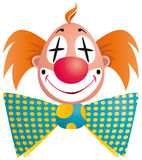 Clown portrait isolated Stock Photos