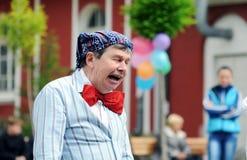 Clown portrait on street Stock Photo