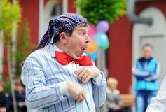 Clown portrait on street Stock Image