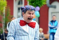 Clown portrait on street Royalty Free Stock Photography