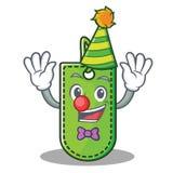 Clown price tag mascot cartoon. Vector illustration Stock Illustration