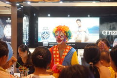Clown promotions Stock Image