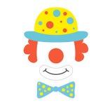 Clown props face Royalty Free Stock Photos
