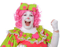 Clown Pumping Fist Royalty Free Stock Images