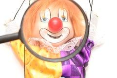 Clown Puppet Peple ledning royaltyfri bild