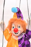 Clown puppet.Peple management. Royalty Free Stock Photo