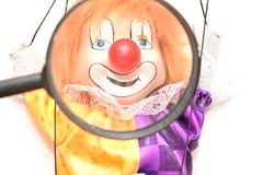 Clown puppet.Peple management. royalty free stock image