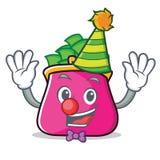 Clown purse character cartoon style. Vector illustration Stock Image